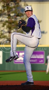 (Parker Robb | Collegian)  K-State pitcher Jake Doller winds up for a pitch to a Northern Colorado batter during the Wildcats' game against Northern Colorado March 12, 2013 at Tointon Family Stadium.