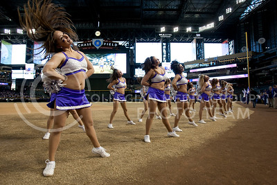 Kansas state dancers cheer on the Kansas State Wildcats during the pep rally at Chase Stadium in Phoenix Arizona Wednesday January 2, 2013.  (Photo by Evert Nelson / Collegian)