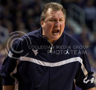 Former K-State Head Coach and current West Virginia Head Coach Bob Huggins screams at the officials during the Wildcats' 71-61 victory over the visiting Mountaineers on February 18th in Bramlage Coliseum. A total of 49 personal fouls were called in the game, 21 by West Virginia, including a technical foul against Huggins and the Mountaineer bench. [Jacob Dean Wilson | Collegian]