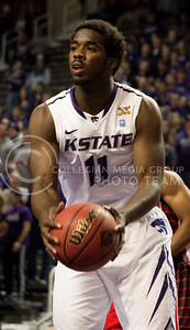 """[""""Fresh start: Nino Williams on right track after injury-ridden first year""""] Sophomore forward Nino Williams looks for a shot during the Wildcats' Nov. 12 victory over Lamar Cardinals in Bramlage Coliseum. [Jacob Dean Wilson]"""