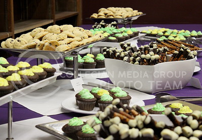 """Josh Staab // The Collegian  The desserts of the Back to School Harry Potter Feast, inlcuding the event favorite """"Rock Cakes.""""  Yesterday's event in the great room also featured polyjuice potion, butterbeer, and rotisserie chicken."""