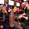 Photo by Parker Robb | The Collegian  Student body vice president-elect Cody Kennedy tells his parents and brother about their campaign trail over the last few weeks at his and president-elect Reagan Kays' election watch party March 5, 2014, at Johnny Kaw's in Aggieville.