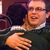Photo by Parker Robb | The Collegian  Reagan Kays, senior in agribusiness, hugs running mate Cody Kennedy, junior in secondary education-mathematics, after finding out they won the student body presidential and vice presidential election by a landslide over competitors Jarrett Romine and AJ Davis March 5, 2014. Kays and Kennedy won by the largest margin of victory--about 85% of the vote--since online records began in 2000.