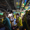 (Photo by Taylor Alderman | Collegian)<br /> <br /> Brazil fans reacting to the soccer game against Croatia during a World Cup watch party at Tanner's Bar and Grill on June 12, 2014.