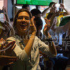 (Photo by Taylor Alderman | Collegian)<br /> <br /> Brazil fans celebrating during the soccer game against Croatia at a World Cup watch party at Tanner's Bar and Grill on June 12, 2014.