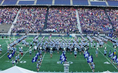 K-State Kickoff included performances form the band and speeches by coaches and players. (Photo by Emily DeShazer / The Collegian)