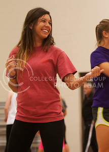 (Photo by Zach Werhan / The Collegian) Participant in the Alli Kemp Self Defense Class hosted by Sorority Pi Beta Phi on Thursday night practices basic techniques to fight off sexual predators. Alli Kemp is hosted annually to give girls across campus the tools necessary to fight back.
