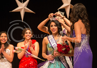 Valeria Guizado, sophomore in biology, crowed 2014 Miss KSU Bellaza Latina at the competition in the KSU ballroom on Saturday, April 19.