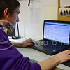 (Photo by Parker Robb | Collegian)  William Baldwin, junior in computer science and spanish, checks his K-State webmail December 2, 2013. K-State is in the midst of transferring all email accounts from Zimbra to Microsoft Office 365. Some students have been using the new Outlook interface for weeks, while others still have yet to see theirs switch from Zimbra.