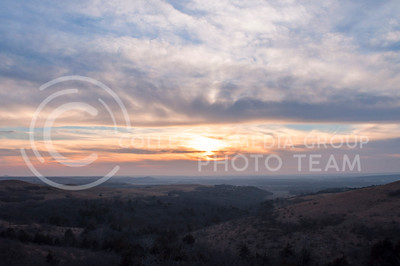 Hannah Hunsinger | The Collegian The sun sets over the Konza Praire on March 6.