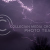 (Photo by George Walker | Collegian)<br /> <br /> Lightning flashes across the sky southwest of Manhattan during the thunderstorm that popped up last night.