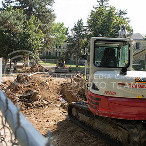Photo by Taylor Alderman | The Collegian One of the many locations under construction for repairs and updates around campus is near Anderson Hall where new underground electrical cables are being installed.