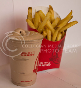 (Photo by Taylor Alderman | Collegian)  Dipping french fries in a Wendy's Frosty is a weird food combination that many people do. Although many people do this, it is still considered a stange combination.