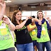 """Parker Robb   The Collegian<br /> <br /> Members of Kappa Alpha Theta dance the sorority's signature dance to the """"Wobble"""" song during their Cravings for CASA sweets-based philanthropic fundraiser, hosted in conjunction with Sigma Alpha Epsilon, at the Pavilion in City Park April 13, 2014."""