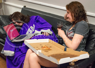 Photo by George Walker | The Collegian  Sleep, food, Netflix, and wine are all ways students celebrate the end of finals.