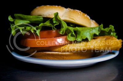 (Photo by Parker Robb | Collegian)  A McDonald's Premium Grilled Chicken Classic Sandwich, minus the mayo and with extra lettuce and tomato, is one healthier option the fast food giant has to offer, weighing in at 350 calories.