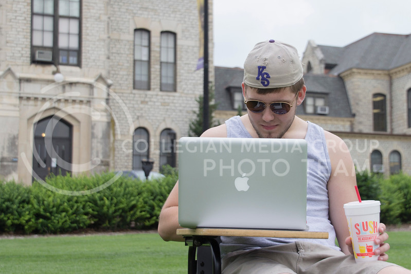 (Photo by Taylor Alderman | Collegian)<br /> <br /> Students have many options during the summer when it comes to taking classes, they can take online classes, evening classes, and online classes.