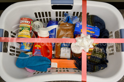 (Photo by George Walker | Collegian)  A laundry basket filled with essentials is a quick-to-make and useful gift for college students.