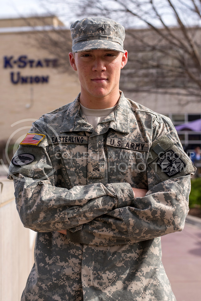Noah Easterling is a third generation K-Stater and soldier.