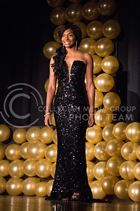 Kabila Gana during the evening gown portion of the competition.