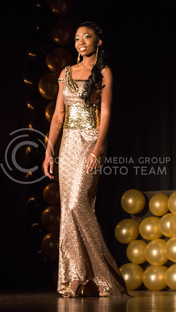 Chandrika Brewton during the evening gown portion of the competition.