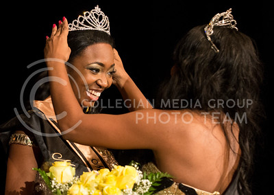 Chandrika Brewton is crowned Miss Black and Gold 2013.
