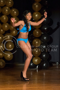 Kabila Gana during the swimsuit portion of the competition.