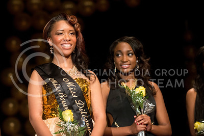 Toria Freeman steps forward to be awarded Miss Black, the second runner up.