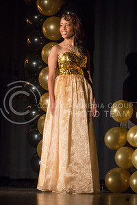 Toria Freeman during the evening gown portion of the competition.