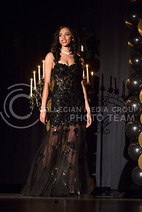 Cayla Sommers during the evening gown portion of the competition.
