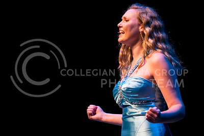 Twenty contestants from various K-State organizations competed in the 2014 Miss K-State competition on Tuesday, April 15, in McCain Auditorium. Abby Alsop, freshman in microbiology, representing Boyd Hall won the title, taking it over from Kaitlyn Dewell, of Gamma Phi Beta.