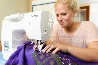 Parker Robb | The Collegian  Stoskopf started her business after becoming curious about gameday apparell she saw being worn at K-State games, and experimenting with a dress design over Christmas break her sophomore year two-and-a-half years ago, and her small business has flourished since then.