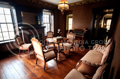 The parlor of the Goodnow House retains all the original furnishings.