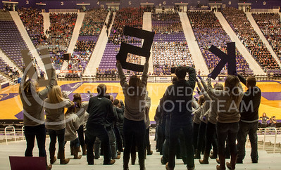 Delta Delta Delta, Phi Delta Theta and Sigma Nu perform at Pant the Chant in Bramlage Coliseum on Oct. 20, 2013.