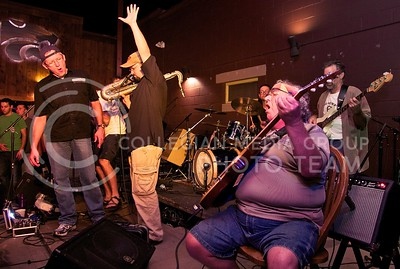 (Photo by Jed Barker   Collegian) The Red State Blues Band performs at the release party for their second CD at Rusty's in Aggieville on Sept 6.