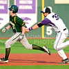 Parker Robb | The Collegian<br /> <br /> Freshman first baseman Tyler Stover tags Baylor's Duncan Wendel out as he runs past in K-State's defeat of Baylor April 17 at Tointon Family Stadium.