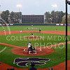 Parker Robb | The Collegian<br /> <br /> Senior catcher Blair DeBord hits a grounder toward shortstop in the Widlcats' 8-2 victory over Baylor April 17, 2014, at Tointon Family Stadium.