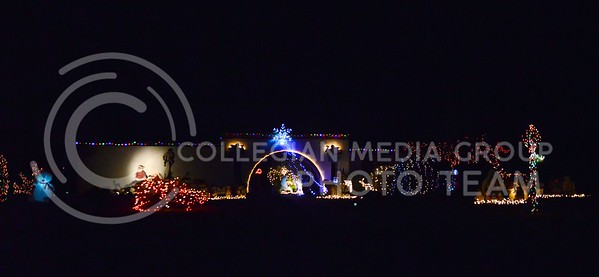 (Photo by Parker Robb | Collegian)  Christmas lights on a house in the Scottsdale area of Phoenix brighten Christmas night December 25, 2013, preceding K-State's appearance in the Buffalo Wild Wings Bowl December 28.