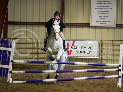 (Photo by Jed Barker | Collegian) K-State's Alexis Graves competes in the Equitation Over Fences against Texas A&M at Timbercreek Stables in Manhattan, Kansas on October 5, 2013. Alexis scored a 78, edging Texas A&M's Leah Chenelle by one point.