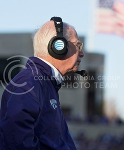 Photo by Jed Barker | The Collegian  Head coach Bill Snyder observes from the sidelines during the game against the TCU Horned Frogs at Bill Snyder Family Stadium on November 16, 2013.