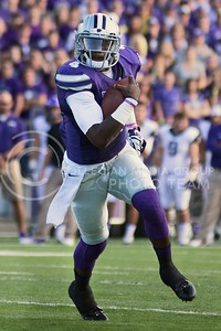 Photo by Jed Barker | The Collegian  Sophomore quarterback Daniel Sams rushes downfield for a touchdown against TCU at Bill Snyder Family Stadium on November 16, 2013.