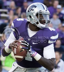 Photo by Jed Barker | The Collegian  Sophomore quarterback Daniel Sams looks to throw against TCU at Bill Snyder Family Stadium on November 16, 2013.