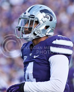 Photo by Jed Barker | The Collegian  Senior cornerback Dorrian Roberts had a big game against the TCU Horned Frogs with three tackles at Bill Snyder Family Stadium on November 16, 2013.