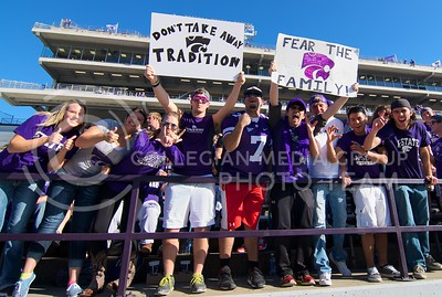 Photo by Jed Barker | The Collegian  K-State fans hold up sings during the game against TCU at Bill Snyder Family Stadium on November 16, 2013.