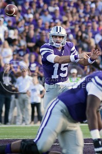 Photo by Jed Barker | The Collegian  Junior quarterback Jake Waters throws the ball against TCU at Bill Snyder Family Stadium on November 16, 2013.