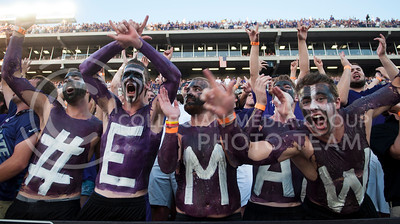 Fans cheer as the game against NDSU begins in Bill SNyder Family Stadium on August, 30, 2013.