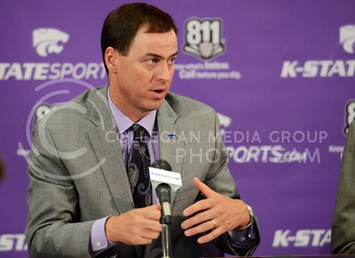 (Photo by Parker Robb | Collegian)  It was announced Oct 2, 2013, that K-State Athletic Director John Currie won the 2013 Bobby Dodd Athletic Director of the Year award.