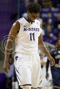 Photo by Jed Barker | The Collegian  Junior forward Nino Williams misses a shot against North Colorado at Bramlage Colliseum on November 8, 2013.