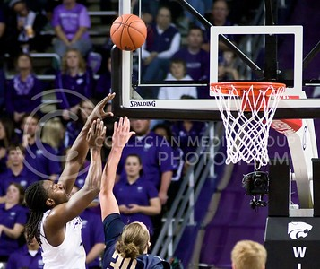 Photo by Jed Barker | The Collegian  Sophomore forward D.J. Johnson shoots the ball against Northern Colorado at Bramlage Colliseum on November 8, 2013.