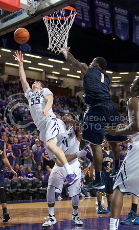 Photo by Jed Barker | The Collegian  Senior guard Will Spradling attempts to get the rebound during the game against Northern Colorado at Bramlage Coliseum on November 8, 2013.